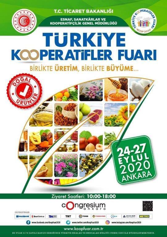 Kadın Kooperatiflerimiz Ankara' da Türkiye Kooperatifler Fuarında.